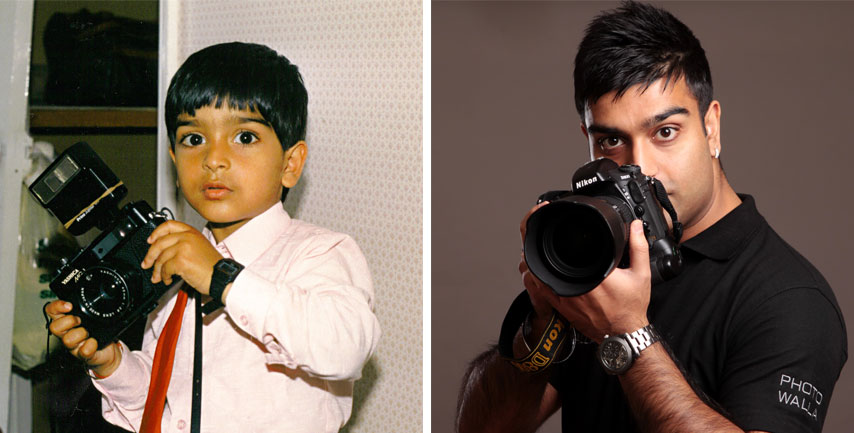 Sunny Marwaha - when he was a child with cameras